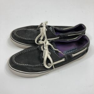 Sperry Black/Purple Boat Shoes Size 8